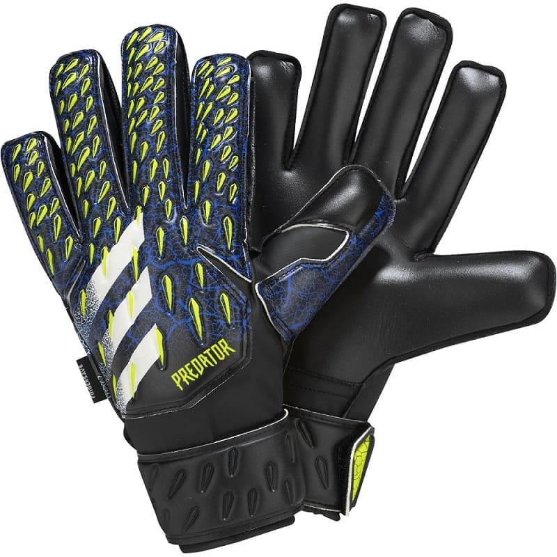 Adidas Predator GL Match Fingersave J Black / White / Yellow - 4,5