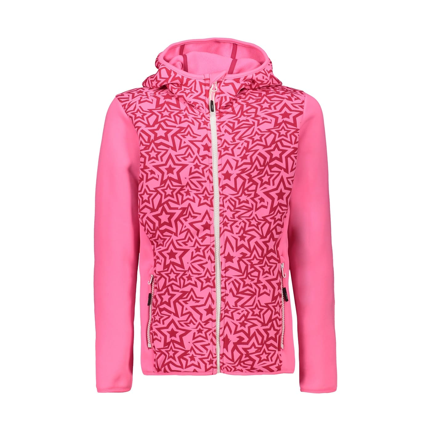 CMP KID GIRL JACKET FIX HOOD PINK FLUO-CARMI - 140
