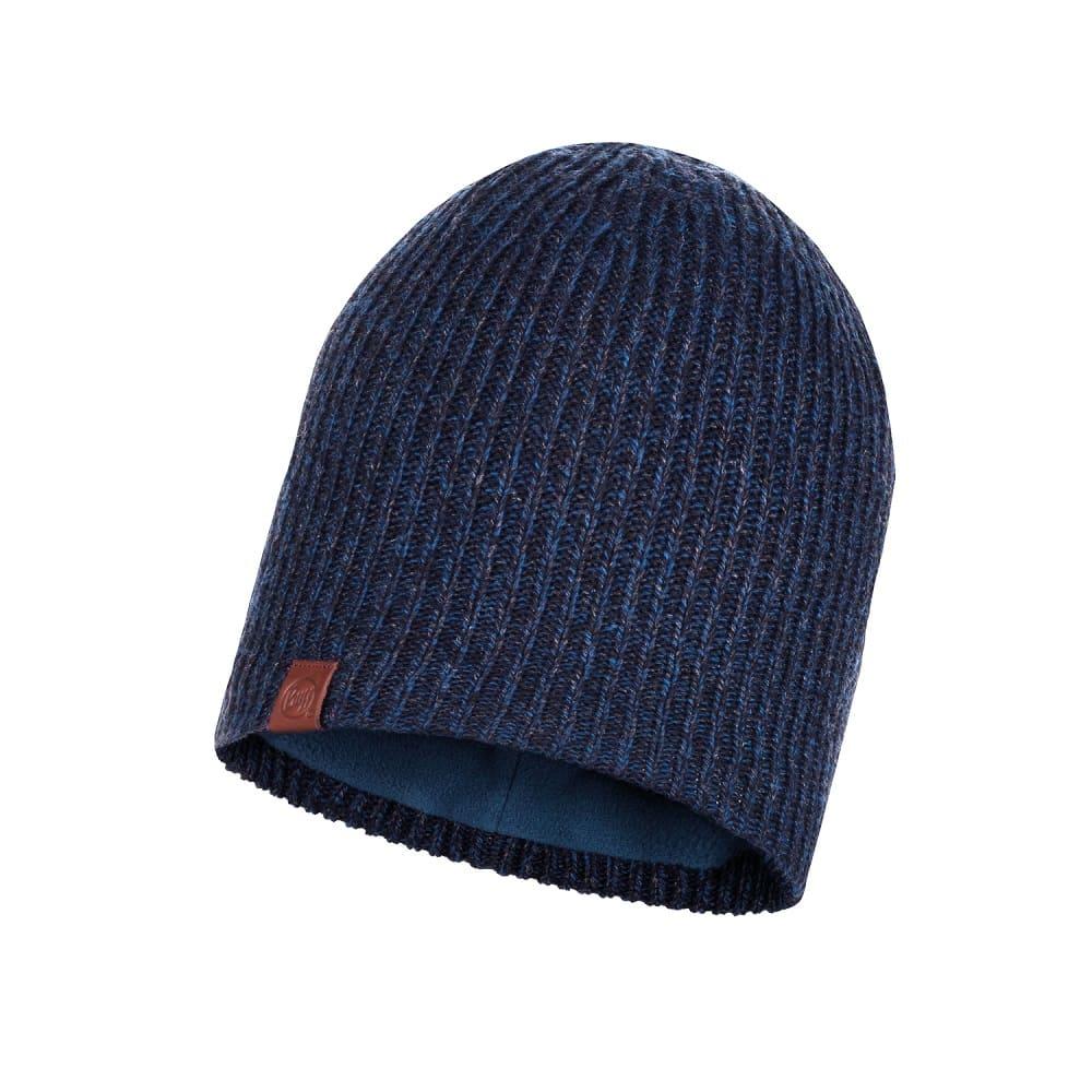 BUFF Knitted & Full Fleece Hat LYNE NIGHT BLUE