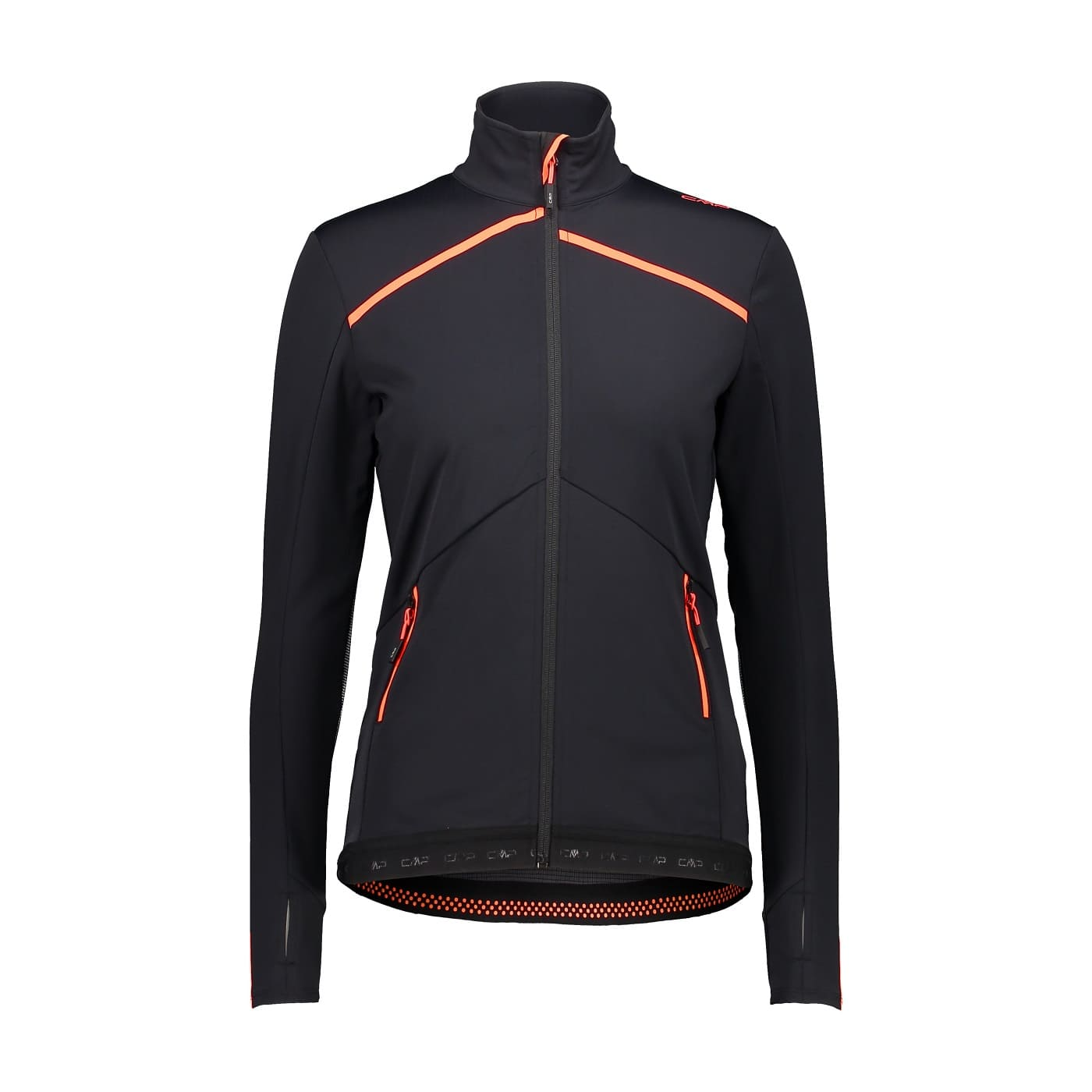 CMP WOMAN JACKET NERO-RED FLUO - 44/38