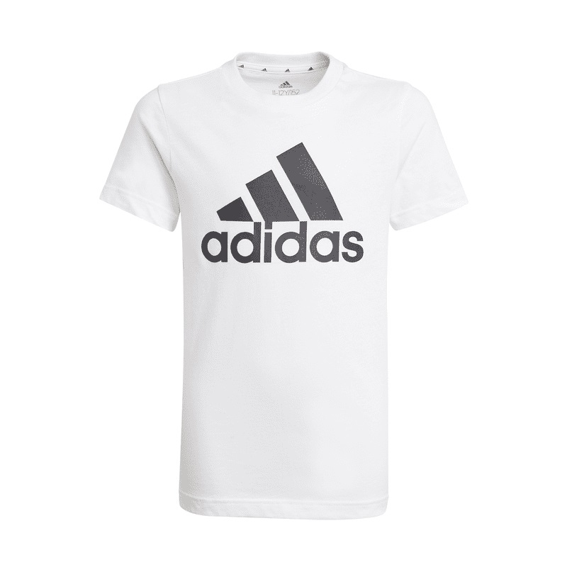 ADIDAS T-SHIRT BOY WHITE/BLACK - 7-8 J