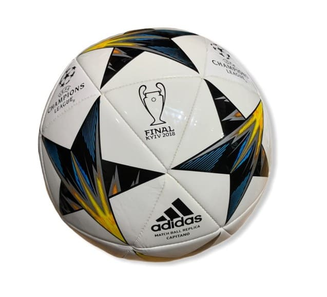 Adidas Match Ball Replica Capitano Final Kiev 2018 White/Black/Yellow - 5