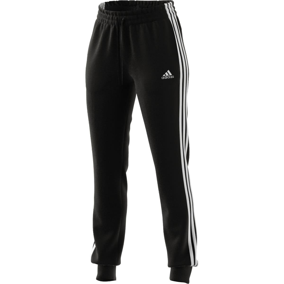 ADIDAS WOMEN 3S FT C PANTS BLACK/WHITE - S