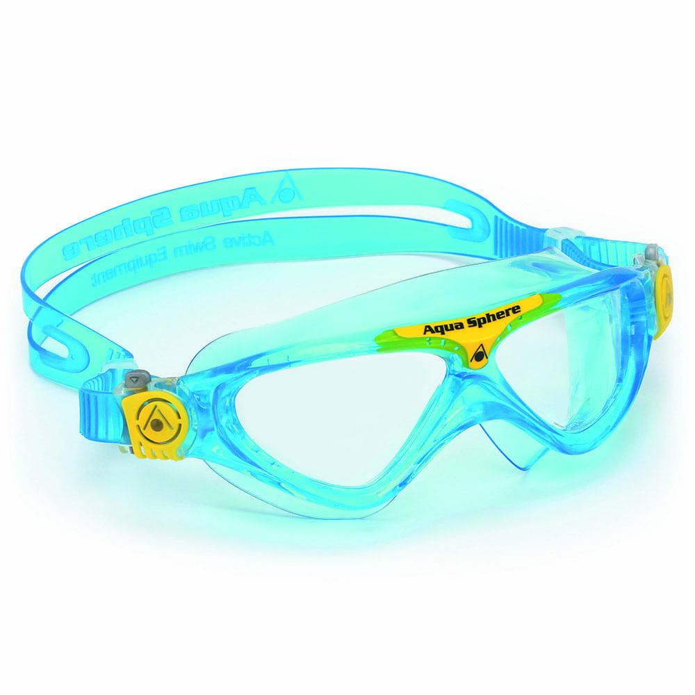 Aqua Sphere Vista Junior Schwimmbrille Aqua/Yellow -