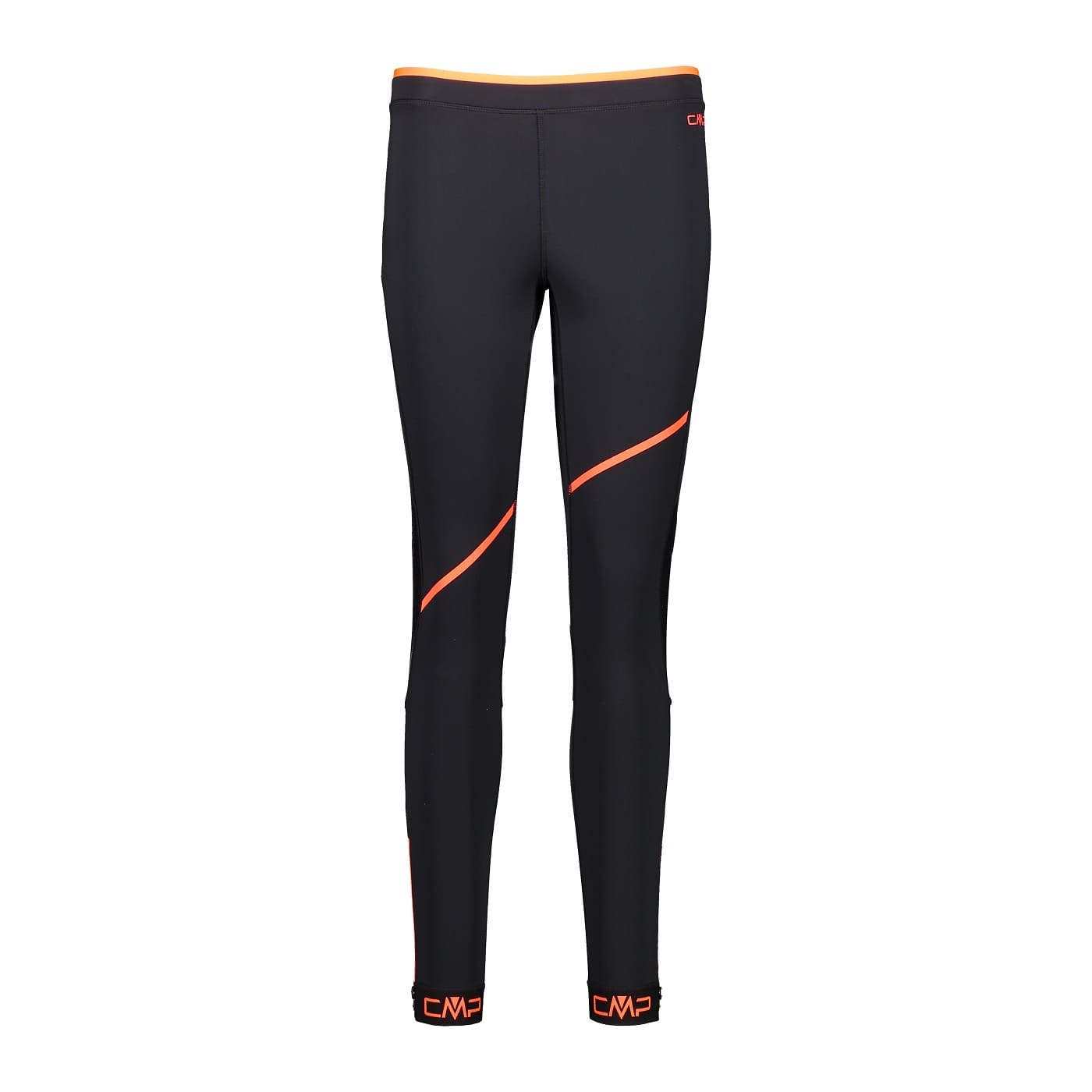 CMP WOMAN LONG TIGHTS NERO-RED FLUO - 44/38