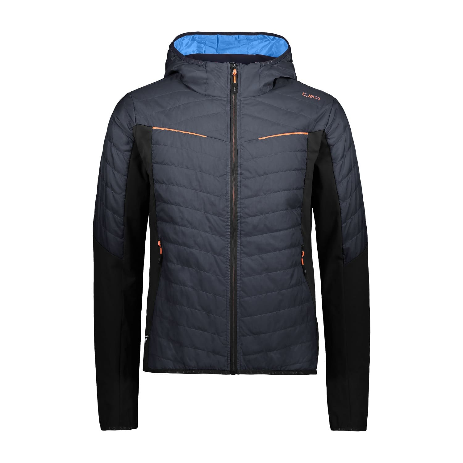 CMP MAN FIX HOOD HYBRID JACKET ANTRACITE - 50