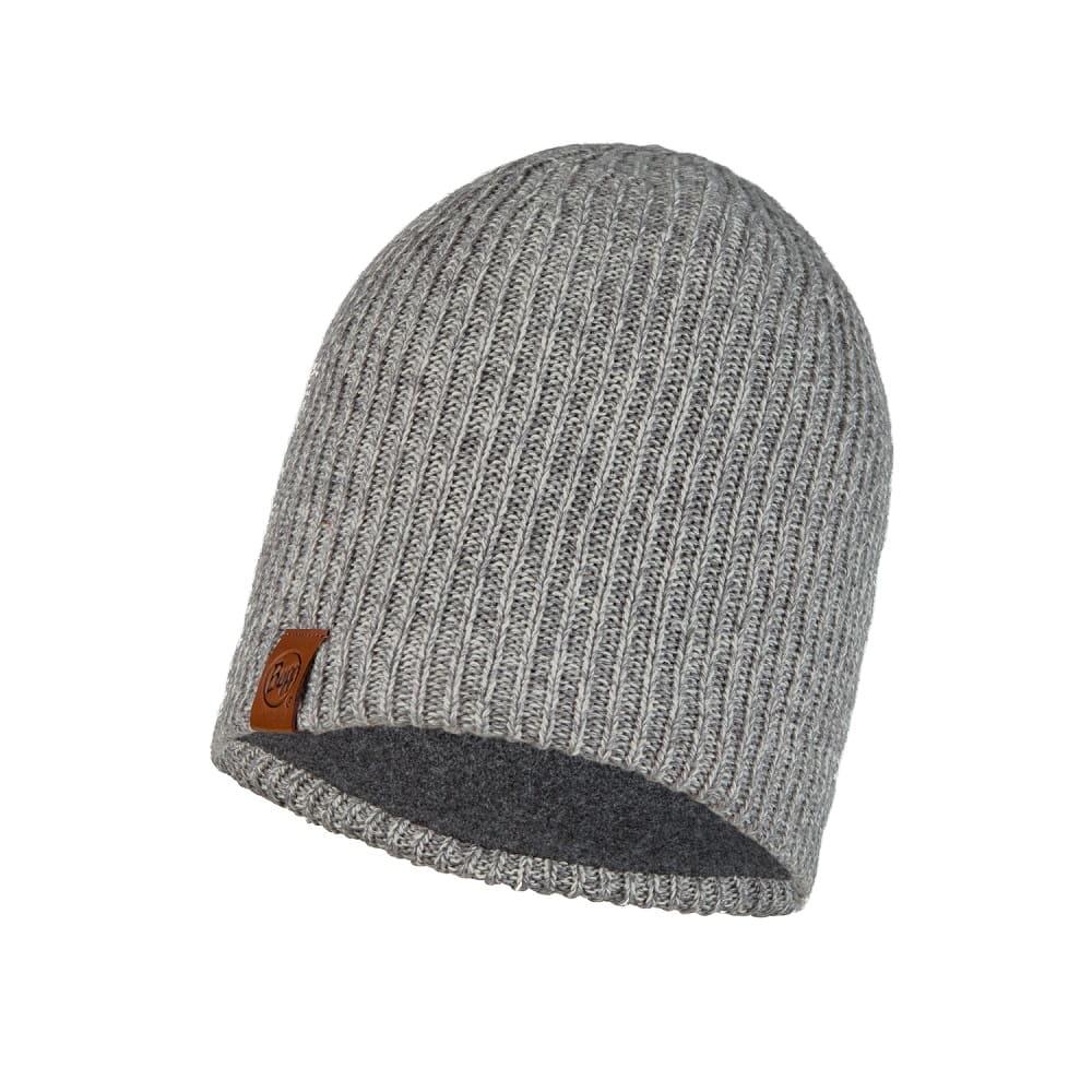 BUFF Knitted & Full Fleece Hat LYNE LIGHT GREY Adult