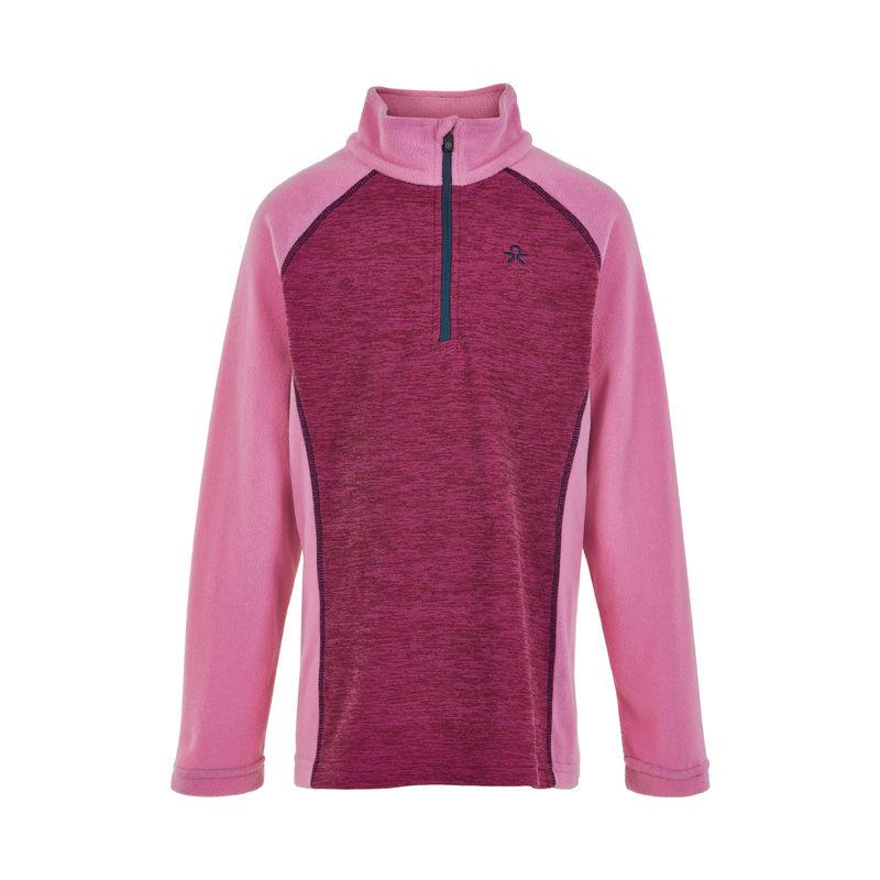 Color Kids Fleece Pullover, Melange Fuchsia Pink - 110