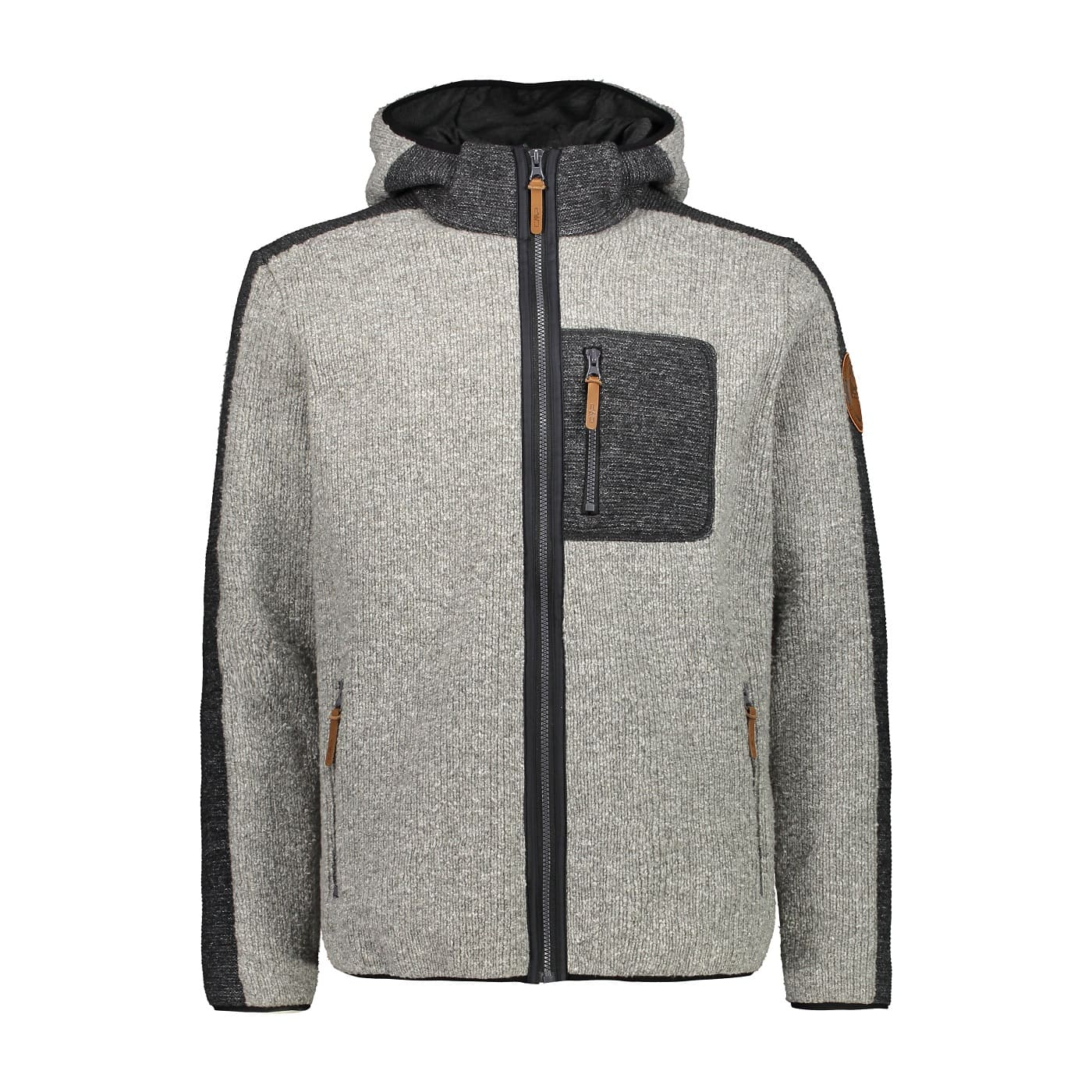 CMP MAN JACKET FIX HOOD GREY MEL. - 50