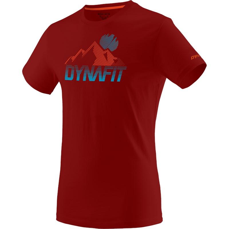 DYNAFIT TRANSALPER GRAPHIC M S/S TEE red dahlia/4490 - 54/XXL