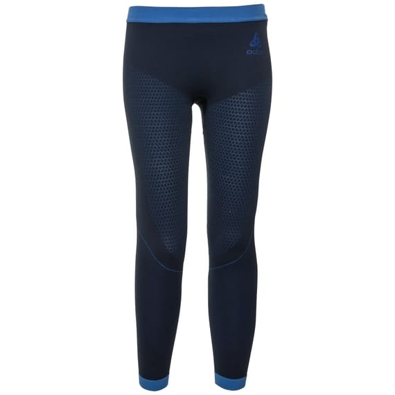 ODLO BL BOTTOM LONG PERFORMANCE WARM KIDS - DIVING NAVY / ENERGY BLUE - 140