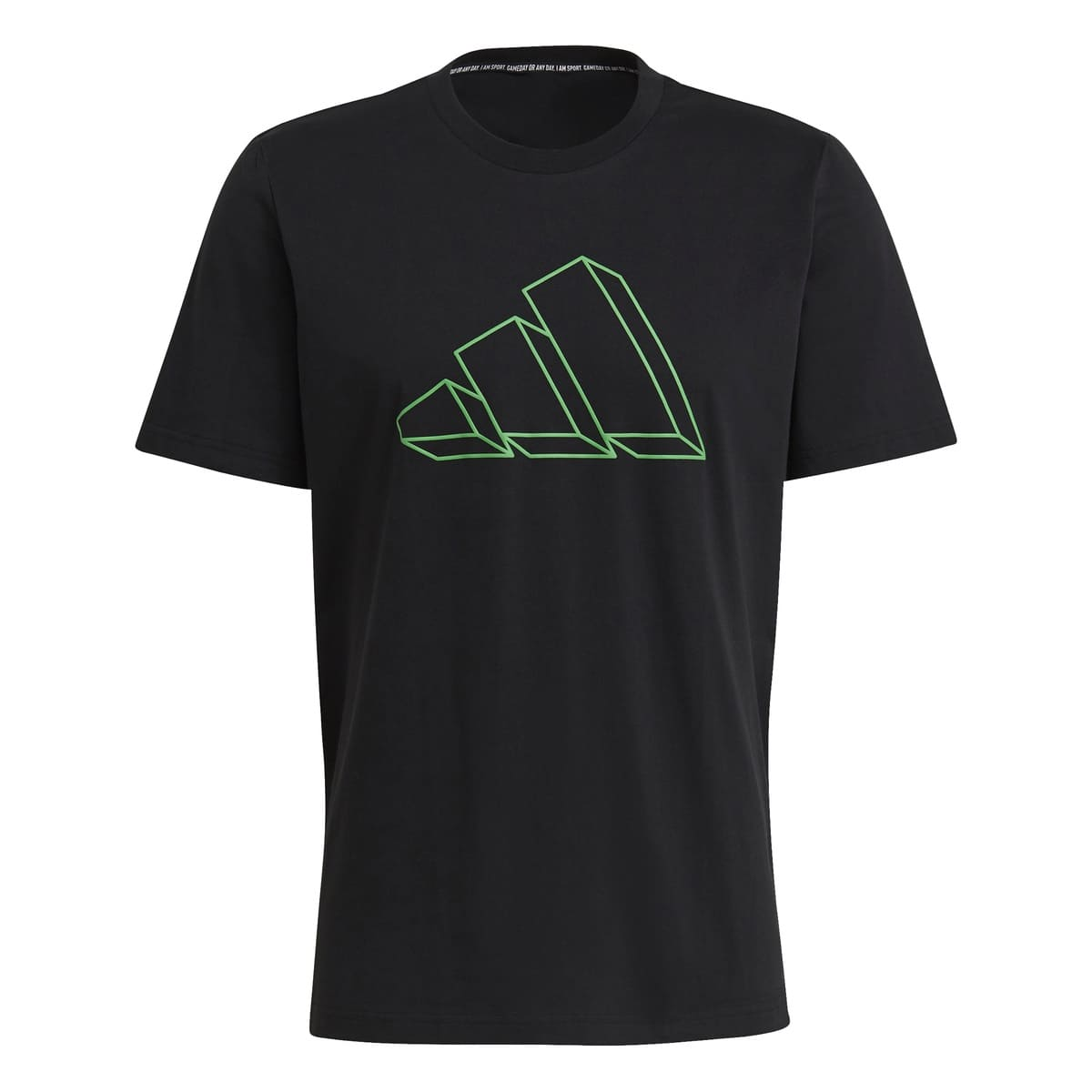 ADIDAS MEN FI GFX T-SHIRT BLACK - S