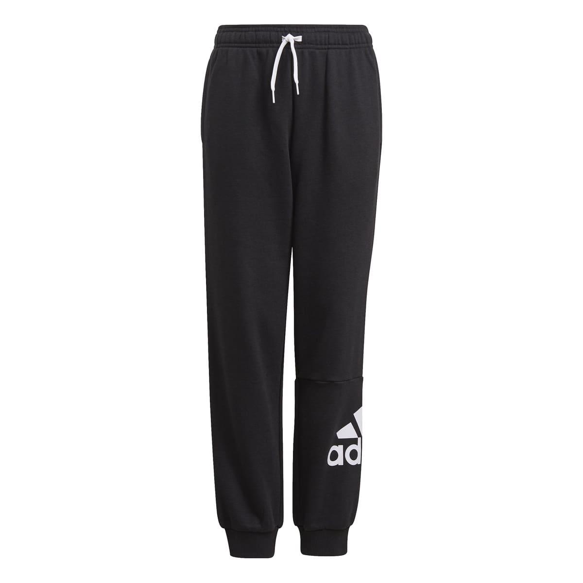 ADIDAS BOY BL FT C PANTS BLACK/WHITE - 8-9 J