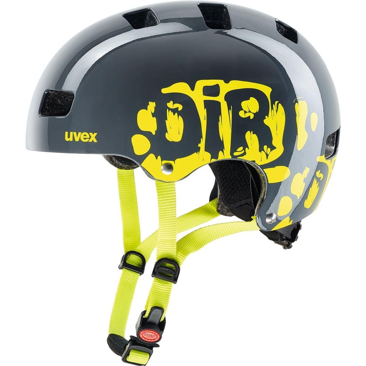 Uvex Kid 3 Dirtbike Grey-Lime - 51-55