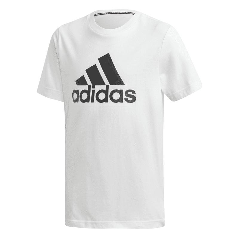 ADIDAS YB MH BOS T-SHIRT WHITE/BLACK - 15-16 J