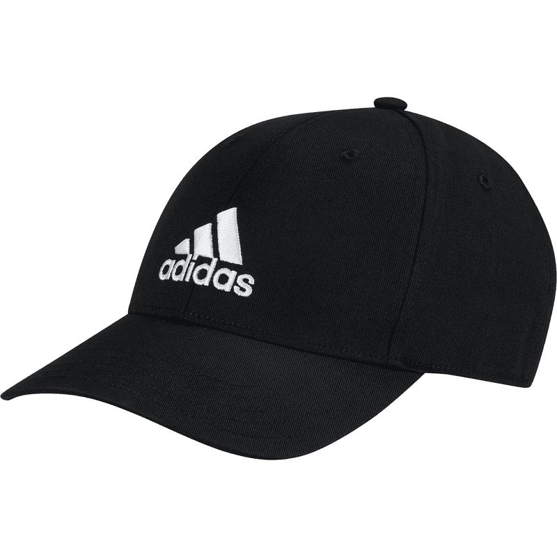 ADIDAS BASEBALL CAP COT BLACK/BLACK/WHITE - OSFL