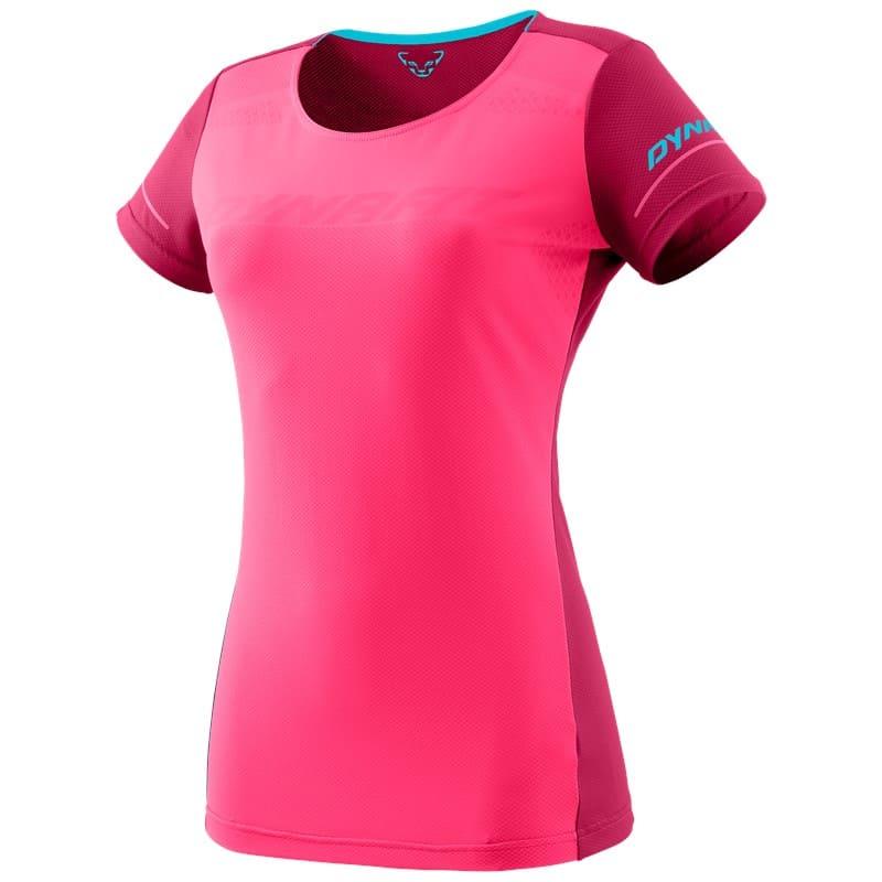 DYNAFIT ALPINE W S/S TEE fluo pink/8210 PEAK - 40/34