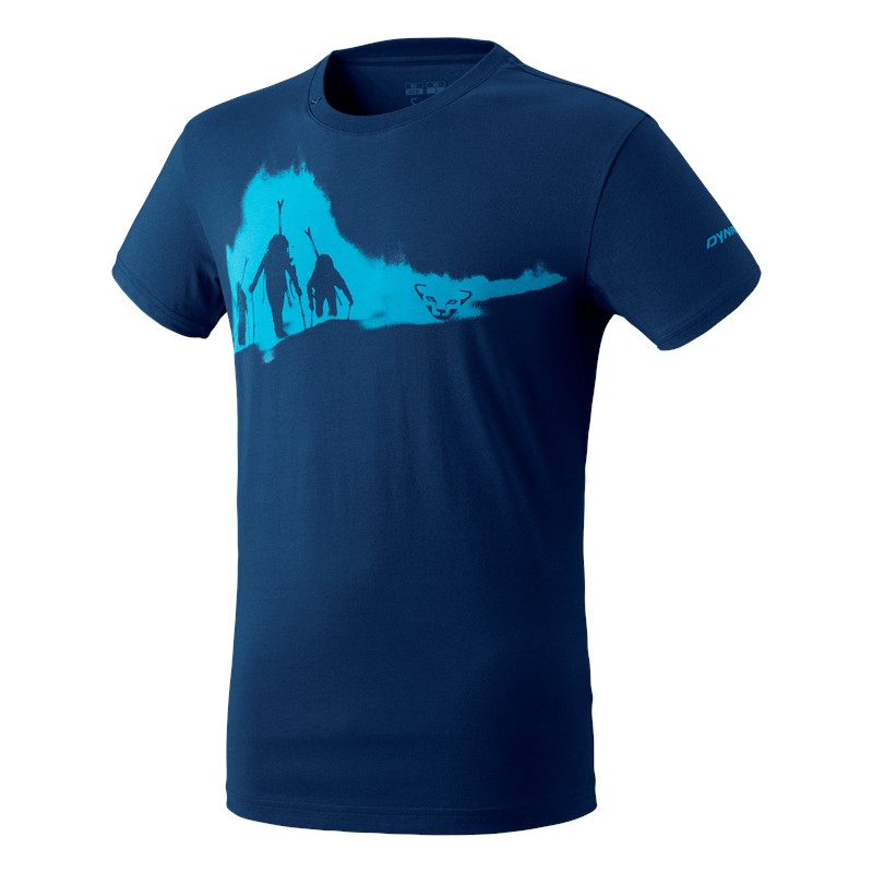 Dynafit GRAPHIC COTTON HERREN T-SHIRT poseidon/ASCENT - 46/S